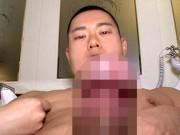ムチムチ体型の元水泳部員、シコって気持ち良すぎてイッちゃってる?太くて硬いずんぐりチンポも必見です!