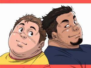 【デブコミック】ガチムチからガチデブまで重量級なカワイイ男達の詰め合わせ同人誌を見てみる!