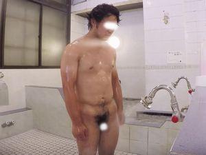 【本物ノンケ動画】ノンケ男子の銭湯での行動を盗撮!