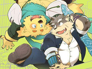 【デブケモノコミック】かわいいケモノが二人でエロい展開に…「東京放課後サモナーズ」の二次創作本を読んでみる!