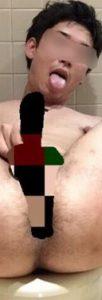 【本物ノンケ動画】ノンケリーマン君の太ももがエロかったので載せちゃいます!個室トイレで過激に全裸オナニー!