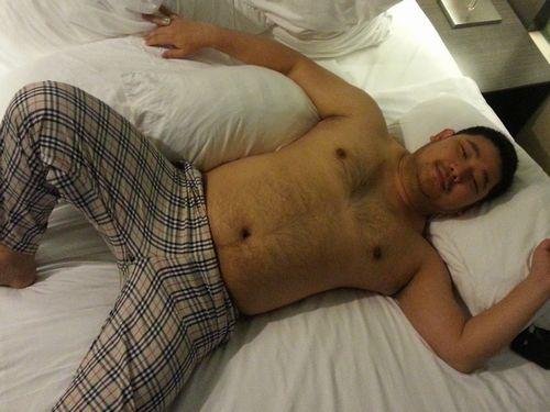 【デブ熊画像】ホテルでリラックスしているデブ熊さんをどうぞ!