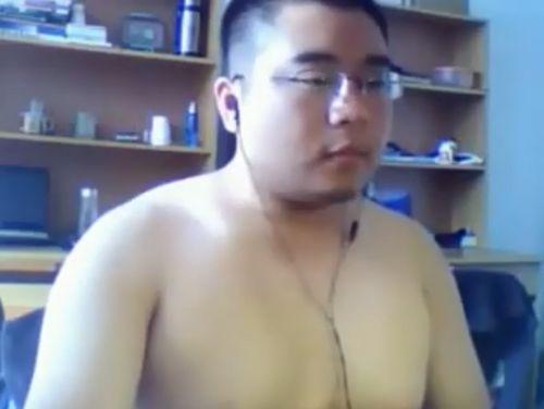 【デブ動画】チャットで会った巨漢男子がかわいい!巨根必見!