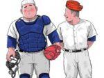 【人気のデブコミック】デブの野球部員二人が蒸れ蒸れパンツでエロい事を始める!