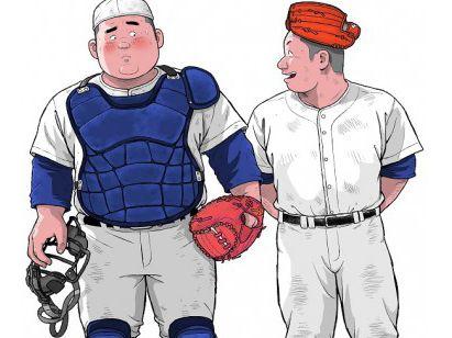 【人気のデブコミック】くの湯 十発め デブ野球部員のパンツの旨み