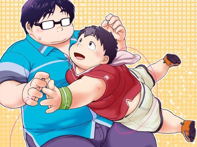 【青年デブコミック】チビデブ男子生徒がオタクデブ教師に恋をする話。