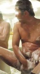 【本物ノンケ動画】健康的なガチポ親父が身体を洗っているところを見てみる!