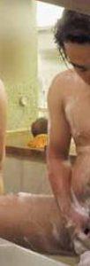 【本物ノンケ動画】ぽっちゃりリーマン男子が仲良く並んで身体を洗っています!