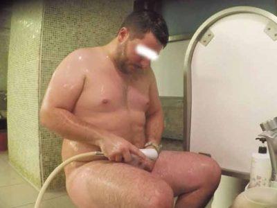 【本物ノンケ動画】中年親父の銭湯での無防備な姿を盗撮!