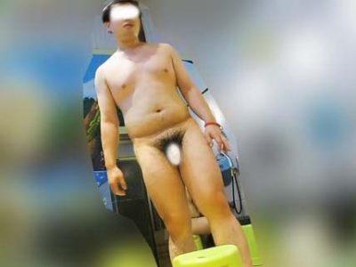 【本物ノンケ動画】ぽっちゃりノンケ男子が銭湯でうろつく姿を観察!