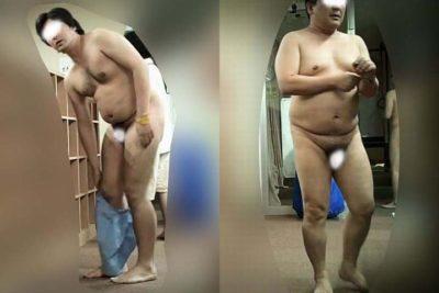 【本物ノンケ動画】中年親父達の銭湯での無防備な姿を観察!