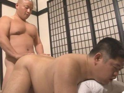 【デブ動画】ガチデブ兄貴がデブ男子のケツをガン掘り!