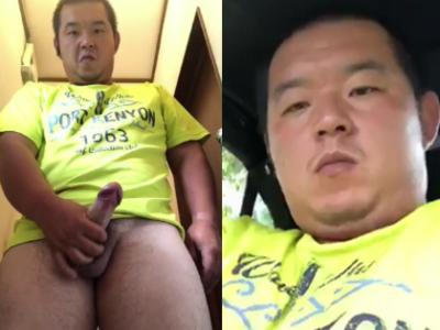 【本物ノンケ動画】包茎ゴリムチ兄貴のカーオナニー!