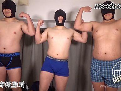 体育会ガチデブノンケが友達とオナホを使って気持ちよく射精!
