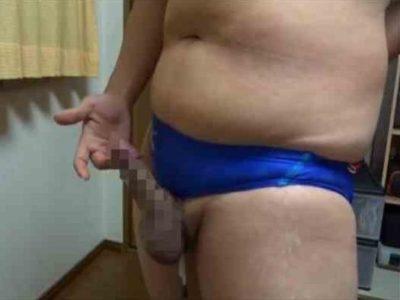 【本物ノンケ動画】投稿!ぽっちゃり男子の競パン姿から始まるオナニー!