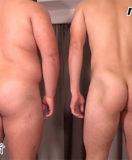 19歳の活きのいい体格の二人が男にチンポをしごかれ見事に射精!
