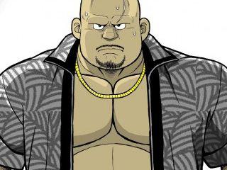 【デブコミック】人気シリーズ「くの湯 十八発め」男の勲章。厳つい親父が登場!