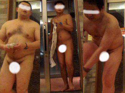 【本物ノンケ動画】気になるノンケのガチデブ男子!銭湯での無防備な姿!