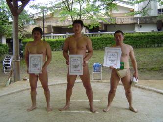 相撲部員表彰