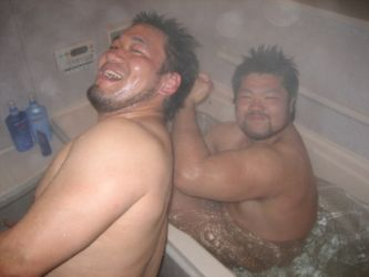 ガチムチノンケ入浴中