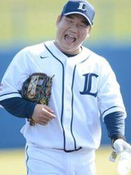 笑顔野球選手