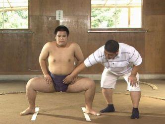 相撲部稽古